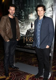 Richard Armitage and Orlando Bloom *squeezes in between* Happy Fangirl Sammich ;D