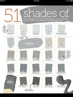 51 Shades of Gray Paint - Part I