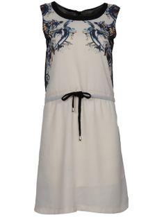 CREAM DRAWSTRING CHIFFON DRESS http://pussycatlondon.com/new-arrivals/cream-drawstring-chiffon-dress.html