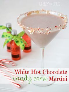 Candy Cane infused vodka/White Hot Chocolate Candy Cane Martini ...