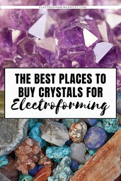 Are you wondering where to get crystals for electroforming? Check out this post to see the best shops to buy stones and cabochons for jewelry making. #electroforming #electroformingjewelry #copperelectroforming #electroformingtutorial Where To Buy Crystals, Wire Wrapping Crystals, Crystal Shapes, Crazy Lace Agate, Copper Jewelry, I Am Awesome, Promotion, Stones, About Me Blog