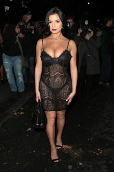 British model Demi Rose Mawby couldn't help but turn heads when she arrived at a Magazine party in London on Thursday. Demi Rose Mawby, Celebs, Celebrities, Sheer Dress, Fashion Photo, Women's Fashion, Celebrity Style, Short Dresses, Sexy Women