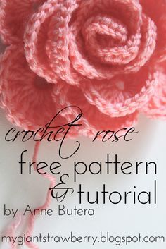 Free rose crochet pattern and tutorial by Anne Butera on the My Giant Strawberry… rose crochet pattern,rose crochet pattern easy,rose crochet patterns free,rose crochet pattern blanket… Crochet Puff Flower, Crochet Flower Tutorial, Knitted Flowers, Crochet Flower Patterns, Crochet Motif, Crochet Designs, Crochet Roses, Free Crochet Rose Pattern, Doilies Crochet