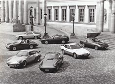 Porsche program showing 924, 924 Turbo, 911 SC, 911 Turbo, 911 SC Targa, 928 & 928S (1980)