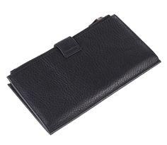 8057A Large Capacity Black Fashion Genuine Leather  Men's Wallet Clutch Bag