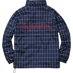 Supreme Windbreaker Warm Up Jacket (Navy Windowpane)