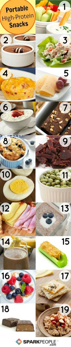 #Protein--don't leave home without it! Love these portable and filling #healthy #snack ideas! | via @SparkPeople