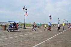 Biking the Ocean City, New Jersey Boardwalk