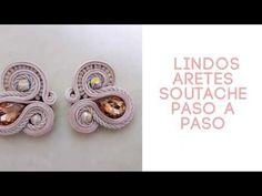Aretes Soutache paso a paso Fácil de hacer - YouTube Soutache Earrings, Diy Earrings, Tutorial Soutache, Shibori, Ribbon, Youtube, Crochet, How To Make, Crafts