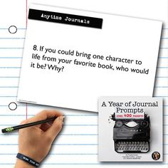 Which fictional character would you bring to life? Writing Prompts Poetry, Picture Writing Prompts, Writing Journals, English Lesson Plans, Common Core Writing, Teaching Secondary, Middle School Teachers, High School, Writing Pictures