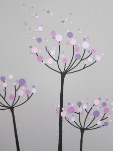 These dandelion dots are a cute and fun project.