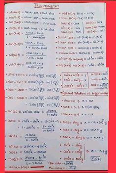 Maths Formulas List, Maths Algebra Formulas, Cool Math Tricks, Maths Tricks, Math Formula Chart, Physics And Mathematics, Learn Physics, Math Tutorials, Math Charts