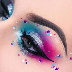 Wunderschöne coole Augen Make-up Ideen. - Makeup Looks Yellow - Make-up Bright Eye Makeup, Eye Makeup Art, Colorful Eye Makeup, Eye Art, Eyeshadow Makeup, Beauty Makeup, Fairy Makeup, Eyeshadow Palette, Pastel Eyeshadow