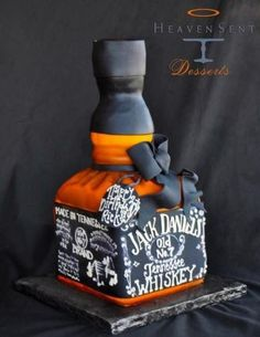 Jack Daniel's Tennessee Whiskey Cake for the groom Cupcakes, Cake Cookies, Cupcake Cakes, 21st Cake, 21st Birthday Cakes, 23rd Birthday, Birthday Ideas, Jack Daniels Cake, Whiskey Cake