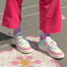 colorful rainbow frosting ice rainbows colors color pink blue yellow red green purple white pastel light soft clothing cake people japanese korean ethereal minimalistic grunge cute aesthetic aesthetics r o s i e Aesthetic Shoes, Pink Aesthetic, Aesthetic Clothes, Aesthetic Fashion, Cute Shoes, Me Too Shoes, Sup Girl, Indie Kids, Look Vintage