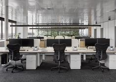 Studio Tate has revamped the floor of an unusual hexagonal building to create lavish offices for PDG, a property development firm based in Melbourne. The studio was given the task of turning t. Best Office, Office Fit Out, Open Office, Office Spaces, Office Plan, Office Ideas, Front Office, Small Office, Office Decor