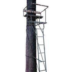 New Ameristep 15' Ladder Tree Stand 2 Man Solid Steel 2 Seat Stand Hunting Deer