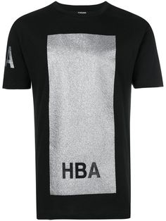 Shop Hood By Air glitter box T-shirt. Hood By Air, Boxing T Shirts, Printed Cotton, Wardrobe Staples, Mens Tops, Shopping, Clothes, Black, Glitter