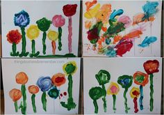 flower painting collage