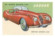 XK Super Sports Car Jaguar poster