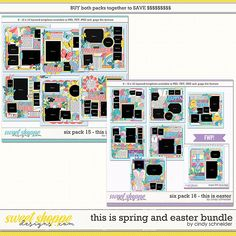 Cindy's Layered Templates -This is Spring and Easter Bundle by Cindy Schneider He Is Risen, Six Packs, Digital Scrapbooking, Create Your Own, Easter, Memories, Templates, Make It Yourself, Spring