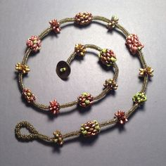 Seed bead woven necklace. Beth Stone