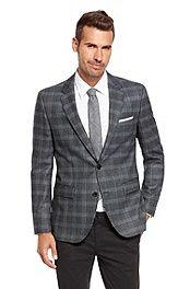 'The James' | Regular Fit, Silk-Virgin Wool Plaid Sport Coat #bossblack