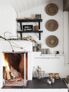 my scandinavian home: The rustic Norwegian cabin hide-away Scandinavian Fireplace, Decor, House Design, Cozy House, Scandinavian Home, My Scandinavian Home, Home Decor, Norwegian House, Rustic Retreat