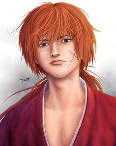 """Kenshin Himura with Takehiko Inoue's Style"" #drawingstyleswap #digitalart #illustration #digitalillustration #fanart #drawing #painting #anime #manga #art #clipstudiopaint"