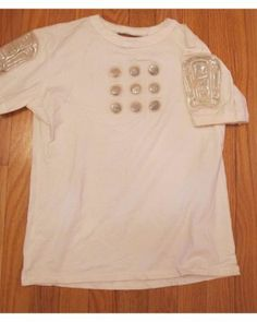 White lego tee with arm panels.