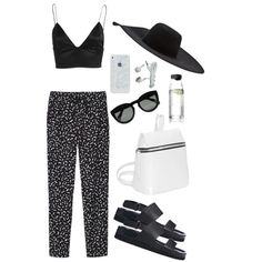 """Monki. Sandals. Bralet."" by emilyhodgsonx on Polyvore"
