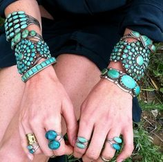 Turquoise tribal pieces