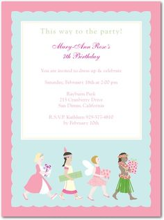 dress up party invitation