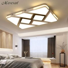 Modern White/Black Surface mounted Ceiling Lights for Bedroom Living room Modern LED dimming lighting Ceiling Lamp New. Down Ceiling Design, Wooden Ceiling Design, Kitchen Ceiling Design, House Ceiling Design, Ceiling Design Living Room, Bedroom False Ceiling Design, Luxury Bedroom Design, Bedroom Bed Design, Home Ceiling