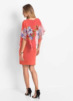 An orchid print chiffon throw gives this fitted shift dress a more sophisticated feel. Club Dresses, Party Dresses, Print Chiffon, Online Fashion Stores, Affordable Fashion, Skater Dress, Cool Outfits, Cold Shoulder Dress, Womens Fashion