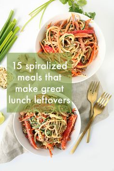 15 Spiralized Meals That Make Great Lunch Leftovers | Inspiralized | Bloglovin'