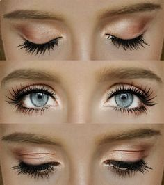 Absolutely love this look, the light coppery color is also perfect for green eyes.