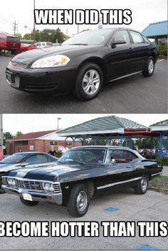 Uh never, that top car has never been sexier than the bottom one. But still, Supernatural!