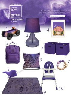 Ultra Violet Pantone Color of the year for home kids baby nursery