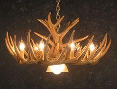 Whitetail 12 Antler Cascade Chandelier w/Downlight - SALE