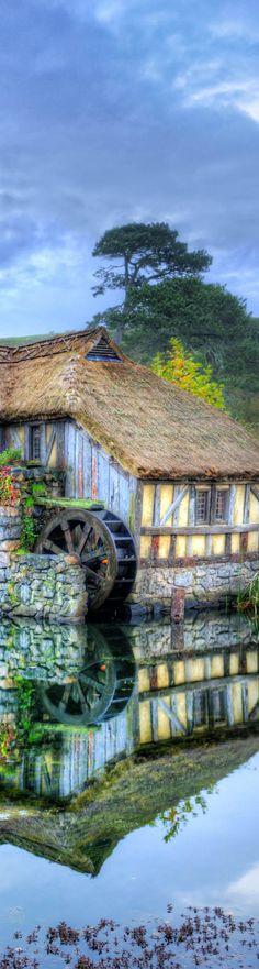 A water mill in Hobbiton - photo from #treyratcliff Trey Ratcliff at http://www.StuckInCustoms.com  #Hobbiton