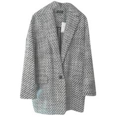 Pre-owned coat (10 190 UAH) ❤ liked on Polyvore featuring outerwear, coats, grey, isabel marant, woolen coat, isabel marant coat and wool coats