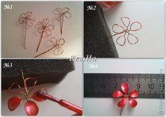 Ideas del arte del desecho de productos de clase Maestro + MK Cuentas part1 Perlas de papel Clay Hilos de alambre Foto 10