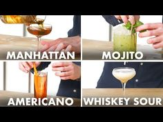 How To Mix Every Cocktail | Method Mastery | Epicurious - YouTube Brandy Alexander, Cocktail Garnish, Champagne Cocktail, Evening Cocktail, Cocktail Drinks, Tom Collins, Pisco Sour, Gin Fizz, Whiskey Sour