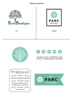 Parc Boutique- branding & identity #teal #logo