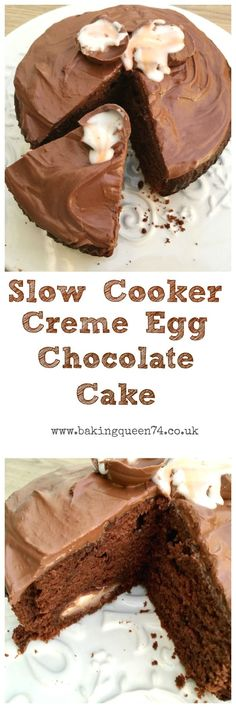 Slow Cooker Creme Egg Chocolate Cake from BakingQueen74.co.uk
