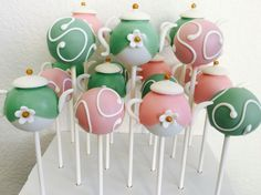 Tea Party themed cake pops