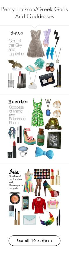 """Percy Jackson/Greek Gods And Goddesses"" by fandomly-yours ❤ liked on Polyvore featuring Karen Millen, Diane Kordas, John Hardy, Yves Saint Laurent, NARS Cosmetics, Nude, Carrie Saxl, Burberry, Nails Inc. and Collette By Collette Dinnigan"