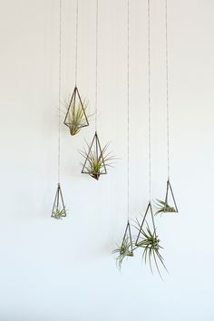geometric and modern planters From KKDW - cute for hanging lots of airplants