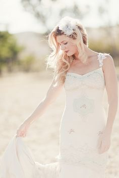beautiful @Claire Pettibone wedding dress + photo by @Brancoprata